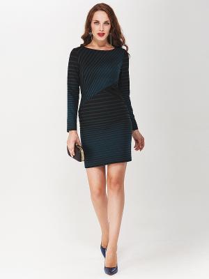 Платье La vida rica. Цвет: черный, лазурный