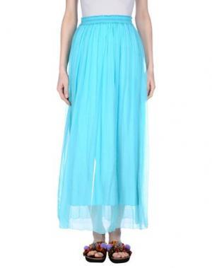 Длинная юбка NIOI. Цвет: лазурный