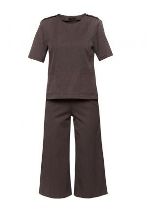 Шерстяной костюм из джемпера и кюлотов RM-32423006 Romana. Цвет: коричневый