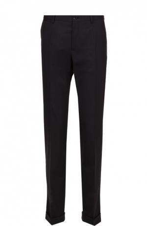 Шерстяные брюки прямого кроя Dolce & Gabbana. Цвет: темно-серый
