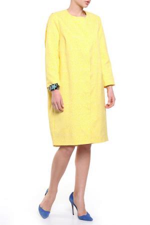 Пальто PRIVATE SUN. Цвет: желтый