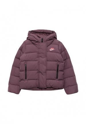 Пуховик Nike. Цвет: фиолетовый