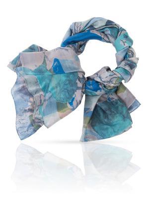 Палантин MICHEL KATANA`. Цвет: синий, серебристый, темно-зеленый
