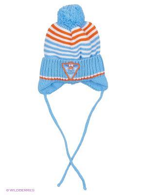 Шапка Чудо-Кроха. Цвет: голубой, оранжевый, белый