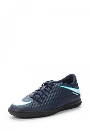 Бутсы зальные Nike. Цвет: синий