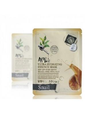 Комплект увлажняющих масок с улиточным муцином, 25 мл.*10 шт. Shelim. Цвет: белый