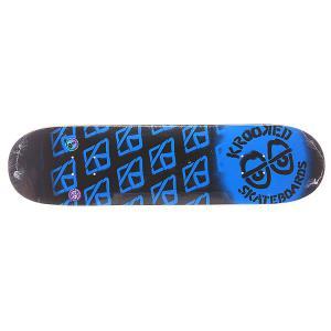 Дека для скейтборда  Pp Diffused M Blue 31.8 x 8.1 (20.6 см) Krooked. Цвет: черный,синий