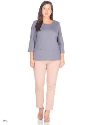 Блузка KA-TI. Цвет: серый