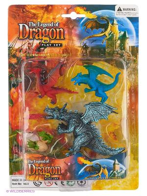Набор фигурок Драконы Happy Kin. Цвет: серый