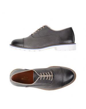 Обувь на шнурках FABIO MODIGLIANI. Цвет: свинцово-серый
