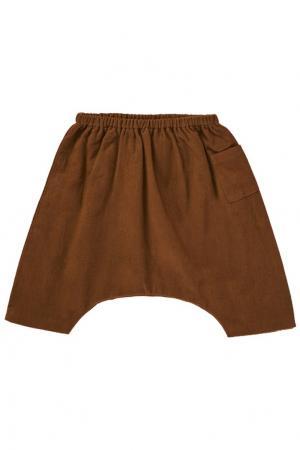 Хлопковые брюки Caramel Baby&Child. Цвет: коричневый