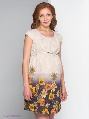 Платье Gemko. Цвет: золотистый, желтый, темно-синий, коричневый, голубой