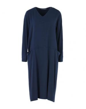 Платье до колена EUROPEAN CULTURE. Цвет: темно-синий