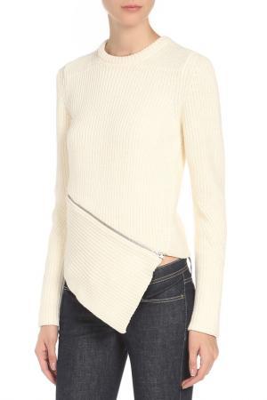 Пуловер Alexander Wang. Цвет: белый