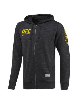 Толстовка UFC FG FULL-ZIP HOO BLACK Reebok. Цвет: черный