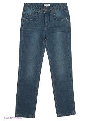 Брюки текстильные джинсовые для мальчиков S`Cool. Цвет: синий