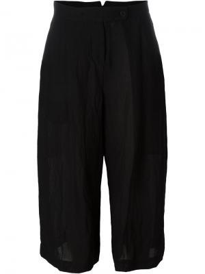 Укороченные широкие брюки Lost & Found Ria Dunn. Цвет: чёрный