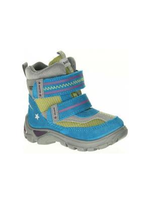 Ботинки Bartek. Цвет: голубой, зеленый