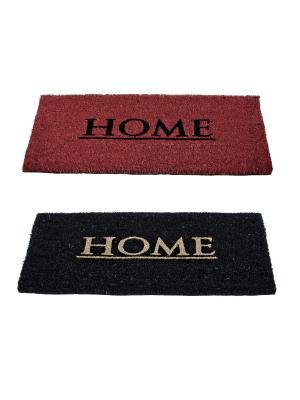 Набор из 2 ковриков для прихожей HOME2 Bizzotto. Цвет: черный, бордовый