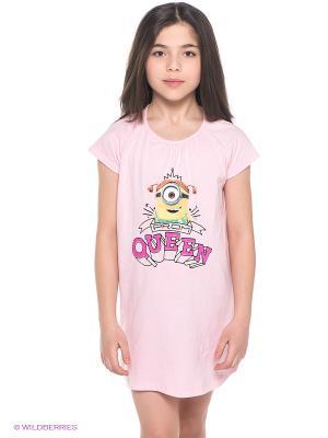 Ночная сорочка Миньоны Despicable Me, Minion Made. Цвет: бледно-розовый