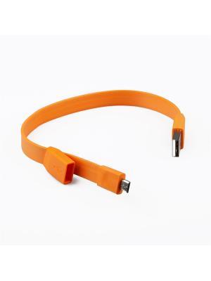 Usb кабель Pro Legend Micro браслет, 25см., оранжевый. Цвет: оранжевый