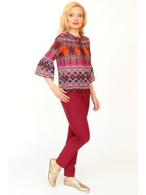 Блузка MARI VERA. Цвет: розовый, оранжевый