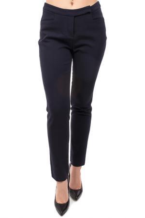 Укороченные брюки с застежкой Pure. Цвет: синий