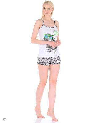 Пижама женская MARSOFINA. Цвет: зеленый, белый