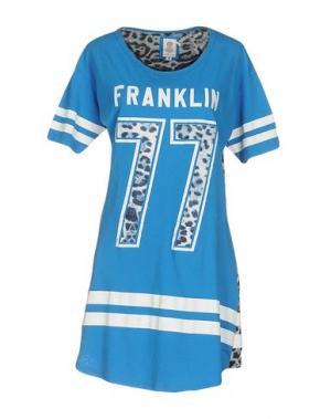 Короткое платье FRANKLIN & MARSHALL. Цвет: лазурный