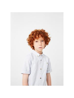 Рубашка - THIAGO Mango kids. Цвет: синий