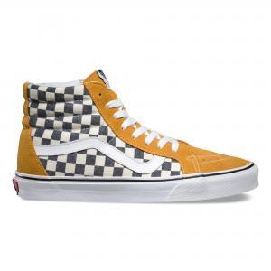 Высокие кеды Checkerboard Sk8-Hi Reissue VANS. Цвет: желтый/синий