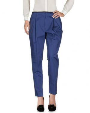Повседневные брюки VIONNET. Цвет: темно-синий