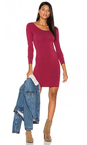 Платье sandra LA Made. Цвет: фуксия