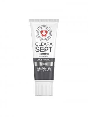 Зубная паста COAL & MINERALS  Интенсивное отбеливание, ClearaSept 75мл.. Цвет: белый