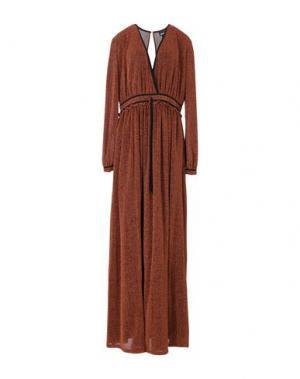 Длинное платье JUST CAVALLI. Цвет: ржаво-коричневый