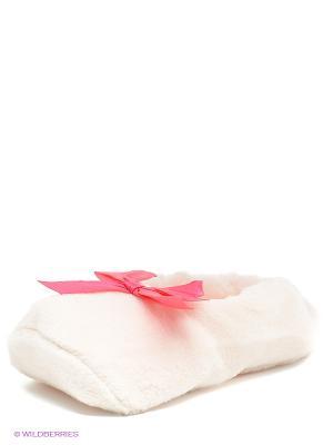 Тапочки Burlesco. Цвет: белый, розовый
