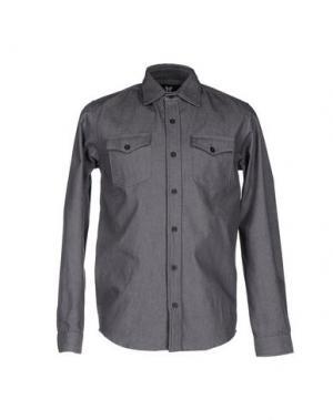 Джинсовая рубашка MISERICORDIA. Цвет: серый
