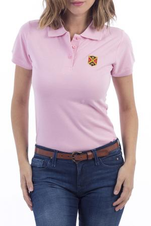 Рубашка-поло POLO CLUB С.H.A.. Цвет: розовый