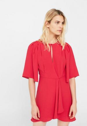 Платье Mango. Цвет: фуксия