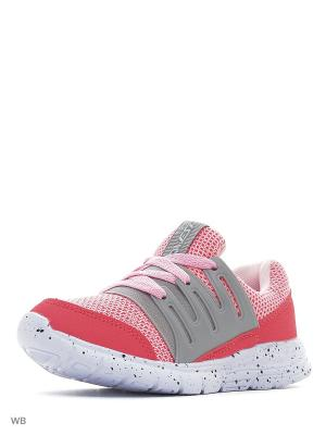 Кроссовки QWEST. Цвет: светло-серый, розовый
