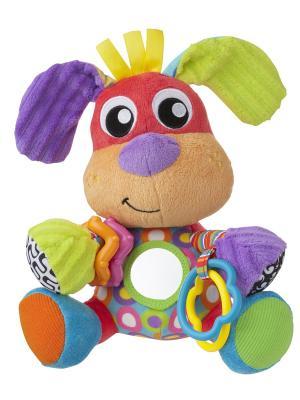 Мягкая игрушка Собака Playgro. Цвет: фиолетовый, зеленый, красный