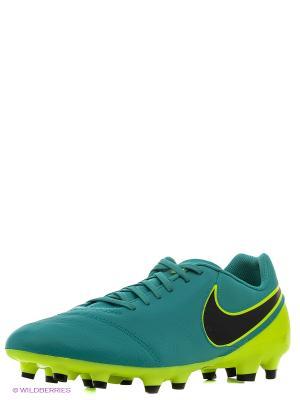 Бутсы TIEMPO GENIO II LEATHER FG Nike. Цвет: зеленый