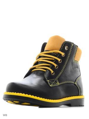 Ботинки San Marko. Цвет: черный, желтый