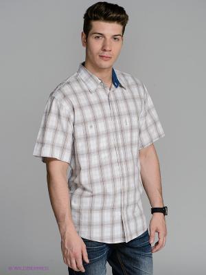 Рубашка Westrenger. Цвет: белый, бежевый
