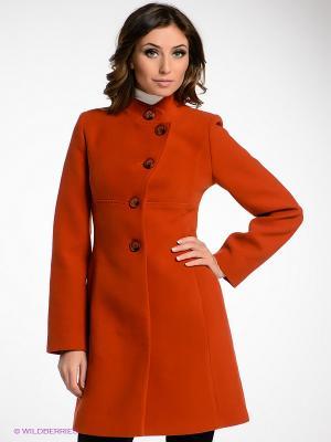 Пальто Klimini. Цвет: рыжий