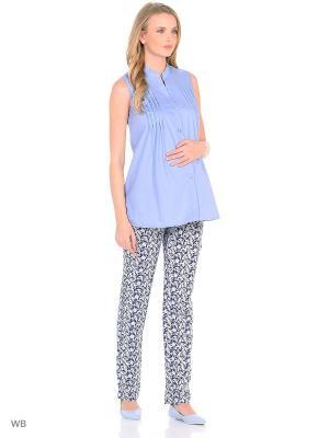 Блузка для беременных и кормления 40 недель. Цвет: серый