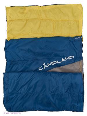 Спальник одеяло Tender 200 Campland. Цвет: синий, салатовый