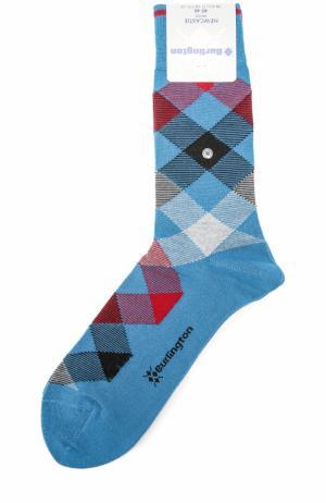 Шерстяные носки Newcastle Burlington. Цвет: бирюзовый