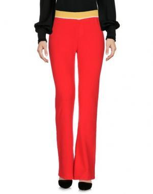 Повседневные брюки AKEP. Цвет: красный