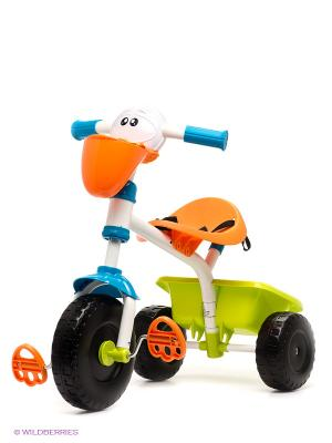 Велосипед трехколесный Пеликан 18м CHICCO. Цвет: оранжевый, салатовый